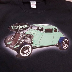 Gabe _pachecokustoms created this awesome piece of art that we printed on tshirts for him #rodtees #