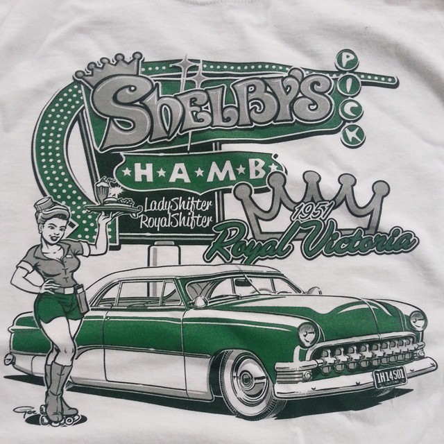 Killer Ger Peters tee shirt design created for Shelbys HAMB pick that we printed here at Rodtees #ro
