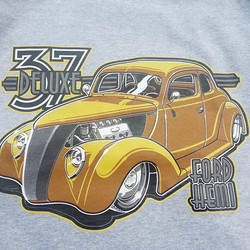 Cool tshirts we printed for Dan Wathor and his great 8 finalist  37 Ford built by Kennys Rod Shop..c