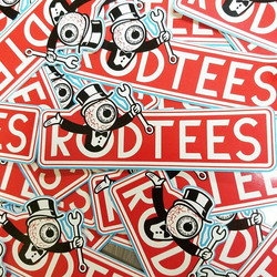 RODTEES doesnt just make custom tshirts.....we also make custom stickers..