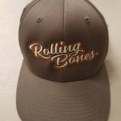 embroidered some hats for our friends The Rolling Bones #RODTEES #tshirtsandothercrap #rollingbones
