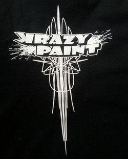 Tee shirts we are printing for Krazy Paint..