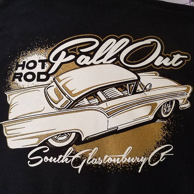 Some tshirts we printed for the upcoming Hot Rod Fallout featuring art by our talented buddy _alliso