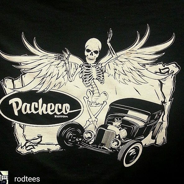 one of our favorite one color t-shirt prints we have done here _rodtees featuring killer art by _pac
