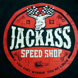 Printed these tshirts for our buddy Andy at Jackass Speed Shop..