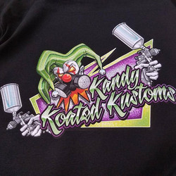 killer tshirts we printed for Kandy Koated Kustoms featuring the stellar art of _throttledemon58 #ro