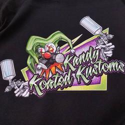 killer tshirts we printed for Kandy Koated Kustoms featuring the stellar art of _throttledemon58 #ro