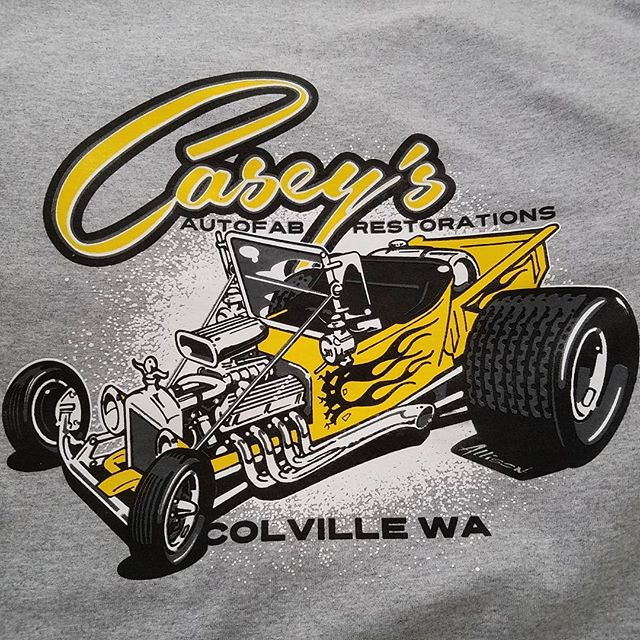Cool tshirt design we printed that was created by Jeff Allison _allison_design for Caseys Autofab Re