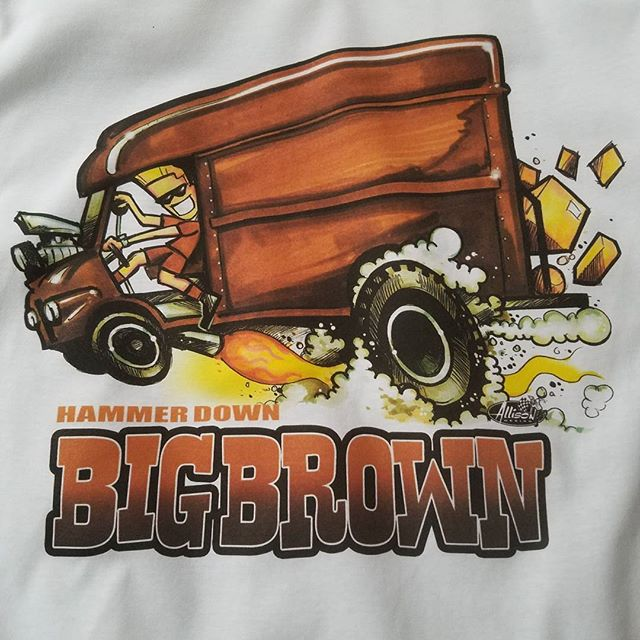 cool tshirt we printed for our buddy Jeff Allison _allison_design #rodtees #tshirtsandothercrap #alm