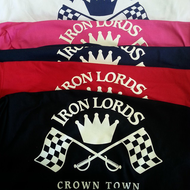 Printed a batch of these tee shirts today for our friends the Iron Lords Car Club #crowntown #queenc