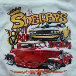 Another cool Ger Peters design we printed on some tee shirts for our buddy Mark at Shelbys Speed and