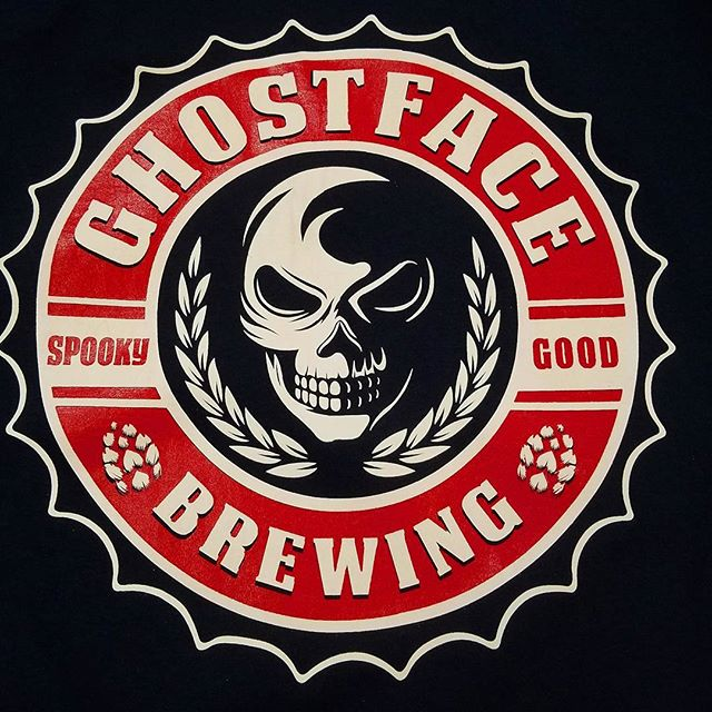 printed a reorder of these tshirts for our friends _ghostfacebrew Need tshirts for your brewery,  an