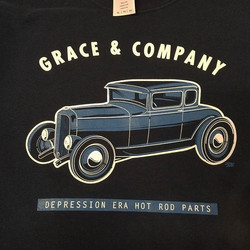 Late night tshirt project we are cranking out for Grace & Co with art by JJ _sugarcityspeedshop #ROD