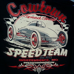Great design created by  Ger Peters for our friends at Cowtown Speed Shop #hamb #hotrod #steezy #tsh
