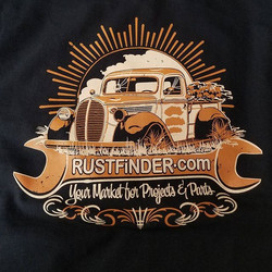 New tshirts we printed here at _rodtees for _rustfinder featuring awesome art by _gerdutchcouragepet