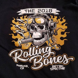 Here is another tshirt we printed for The Rolling Bones for their GNRS Retrospective featuring art b