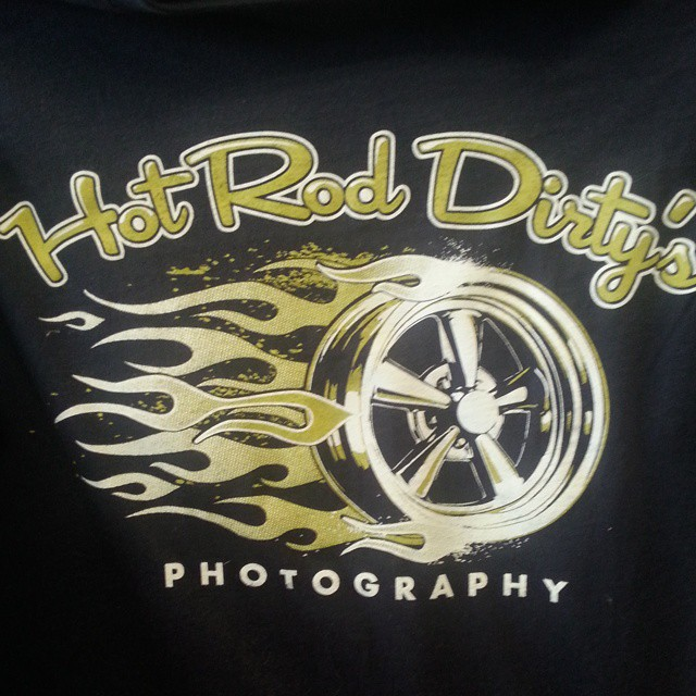 Here is a cool tee shirt design we printed for HotRod Dirtys Photography #hamb #hotrod #tshirt #scre