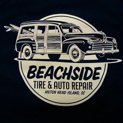 Printed a reorder of these tee shirts at Rodtees today for our buddy Sam at Beachside Auto Repair #h