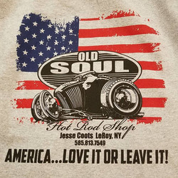 One of the kool tshirt designs we printed for Jesse _oldsoulhotrodshop and his Hardcore Happening ..