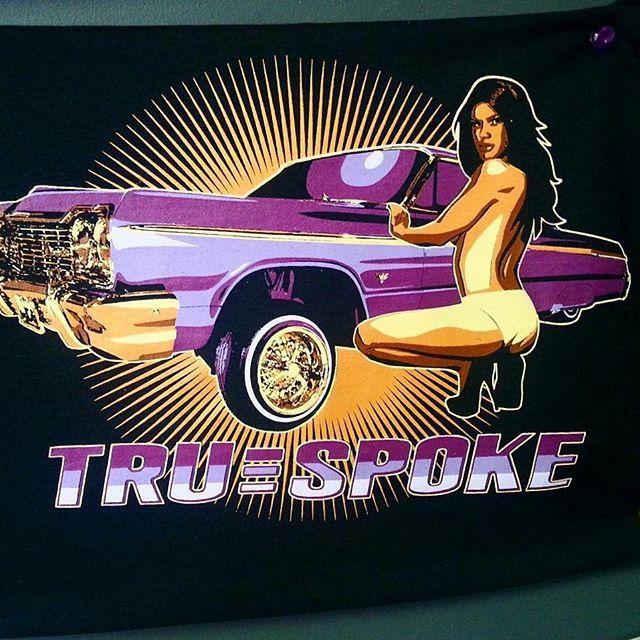 we printed these tshirts for Triespoke awhile back #lowrider #hopper #wirewheels #truespoke #13s #im