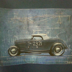 Third in a series of four blueprint tshirts we are printing for The Rolling Bones with killer design