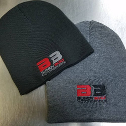 its getting cold out there...how anout some embroidered beanies to keep that melon warm..