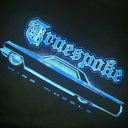 We printed these tee shirts for Truespoke..