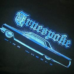 We printed these tee shirts for Truespoke..