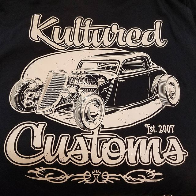 Another kool tshirt design we print for the great folks _kulturedcustoms featuring a killer piece of