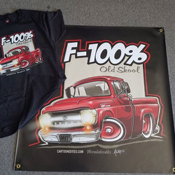 cool mancave banner with matching tshirt wr printed for one of _cartoonedtees customers #RODTEES #ts