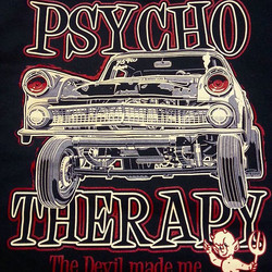 Cool tshirt design created by Ger Peters that we printed here _rodtees for the Psycho Therapy crew #