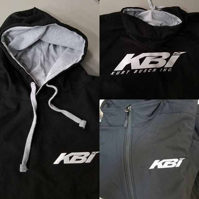 Cold weather on its way...so we cranked out some hoodies and jackets for our  neighbors over at KBI
