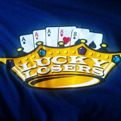 Cool tshirts we printed for the Lucky Losers Car Club gmfeaturing a logo design by Chad Cox ...need
