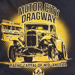 Here is a cool tshirt we printed for our buddy Art at Motor City Dragway featuring awesome design wo