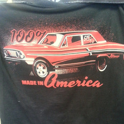 Jeff Allison created this cool design which we printed for him with discharge ink on tee shirts that