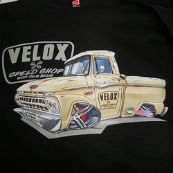 new tshirts for Jeff at Velox Speed Shop..