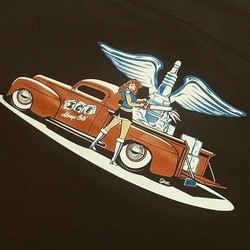 killer tshirt design we printed for our good friends at Artisan Ice featuring a kool design by the t