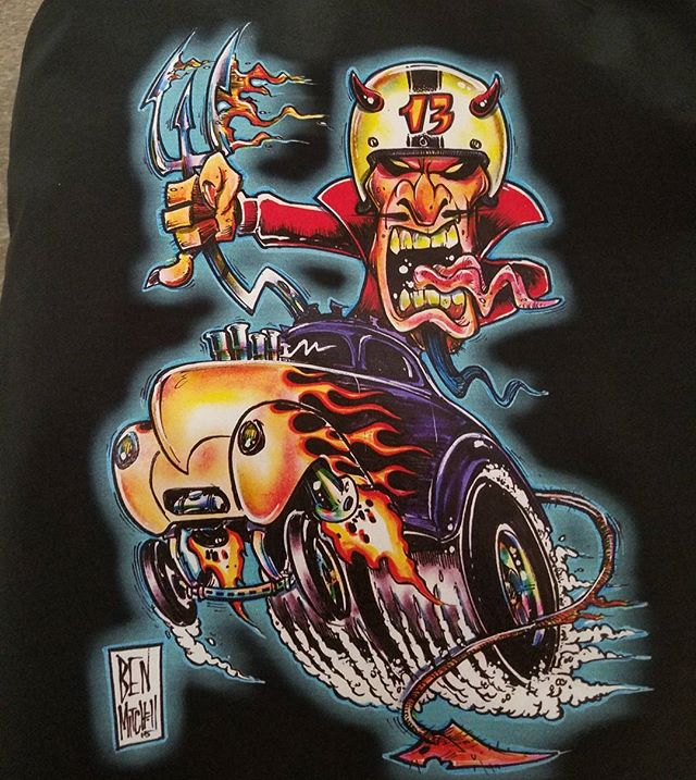 another kool t-shirt we print for our buddy _dragdaddys ...he did the artwork too..