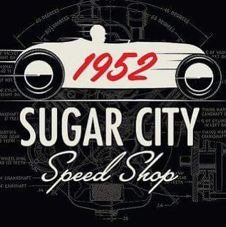 tshirts we printed for _sugar_city_speed_shop JJ there also created the kool design #speedshop #vint