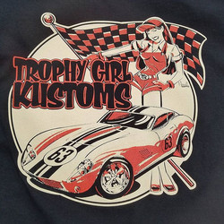 cool tshirts we printed for Trophy Girl Kustoms featuring a killer design by _jeffhotrod #rodtees #t