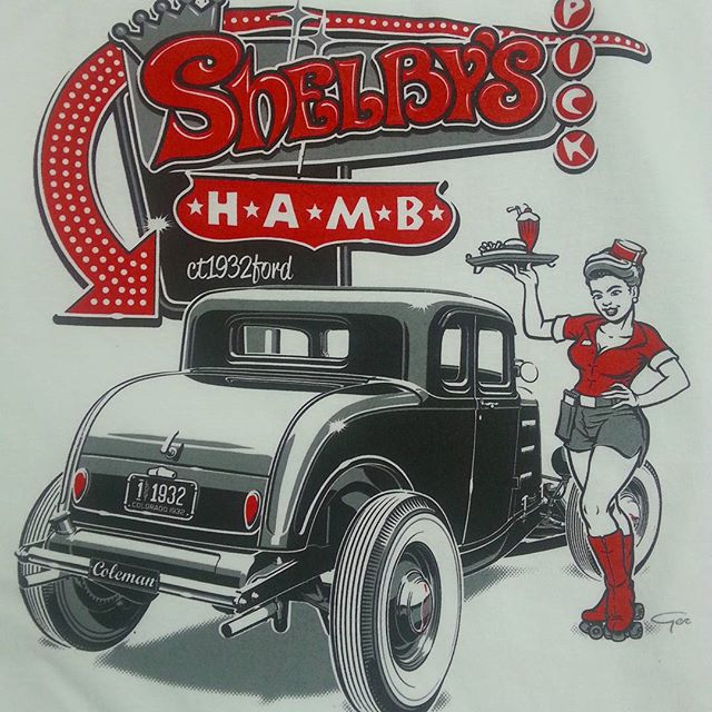 Some cool tee shirts we printed here at RODTEES for our buddy Mark Cain at Shelbys Speed and Kustom