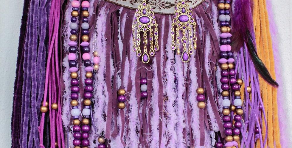 Violet Fringe Bag