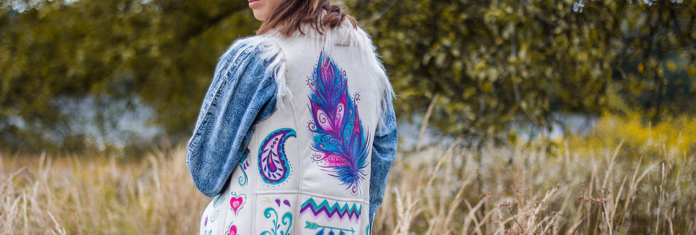 Bohemian Vest - Feathers
