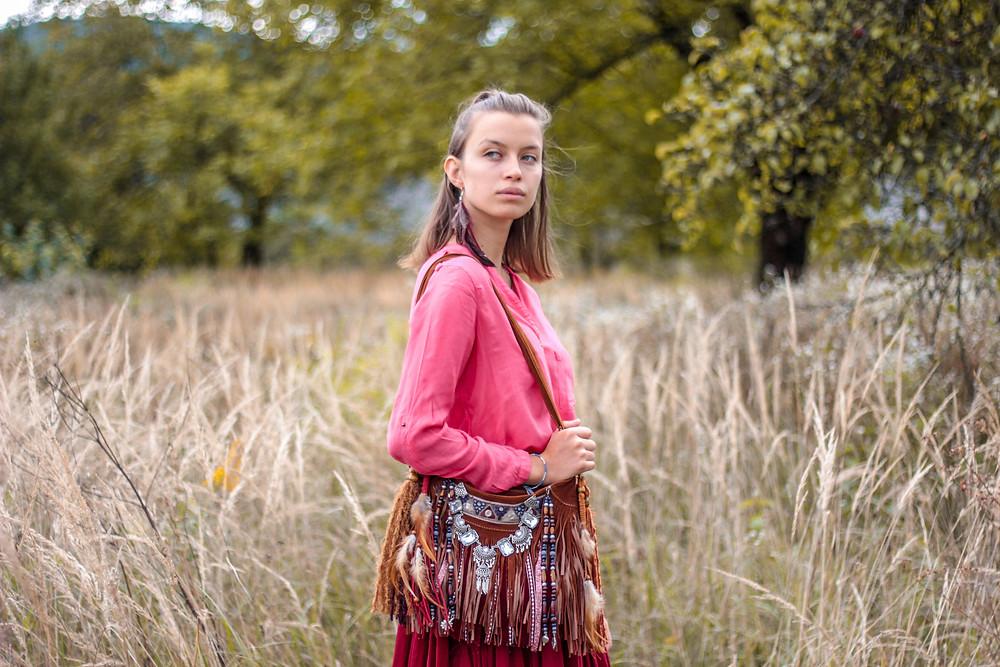 fall boho look, bohemian queen, boho blogger