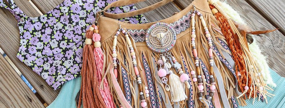 Rose Fringe Bag
