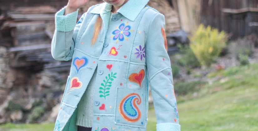 Rainbow hippie coat
