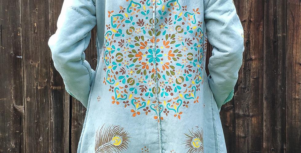 Rainbow hippie coat
