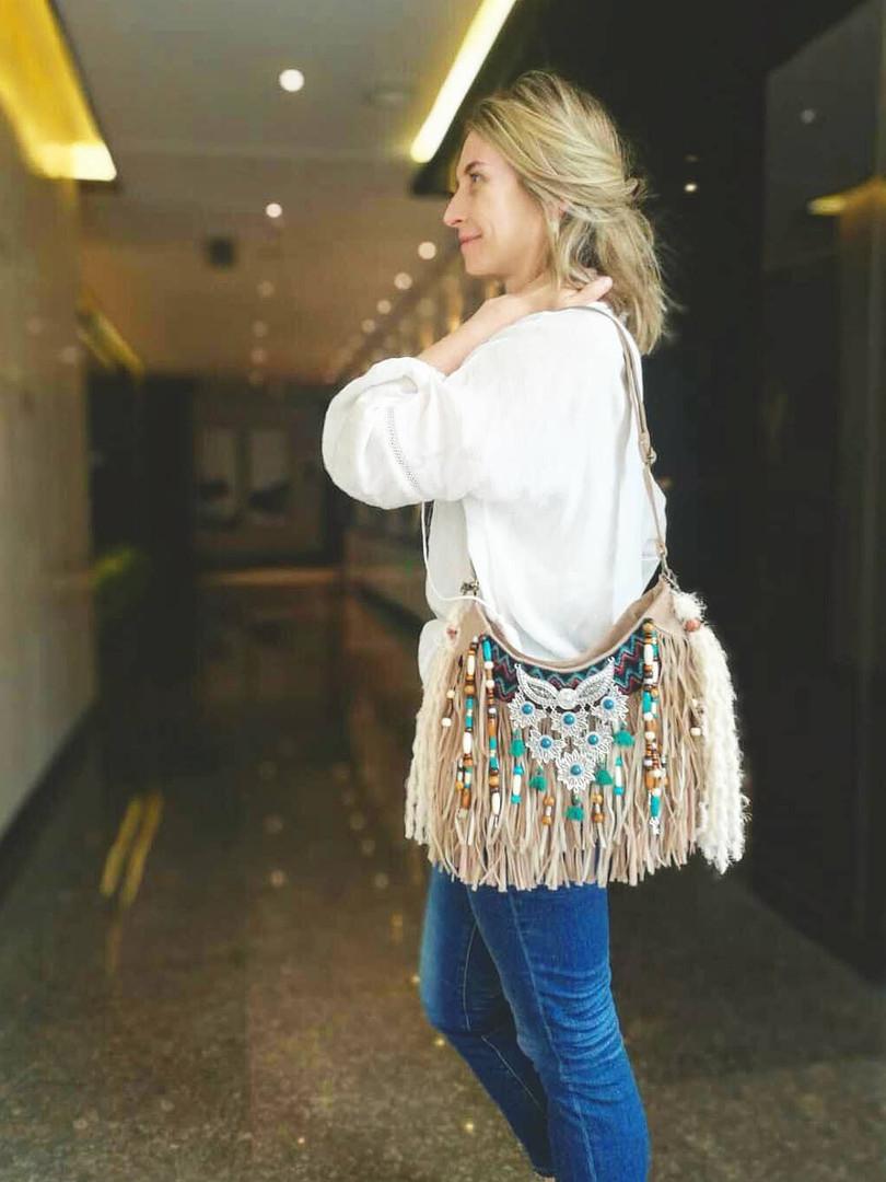 handmade boho bag, vegan gypsy purse, ha