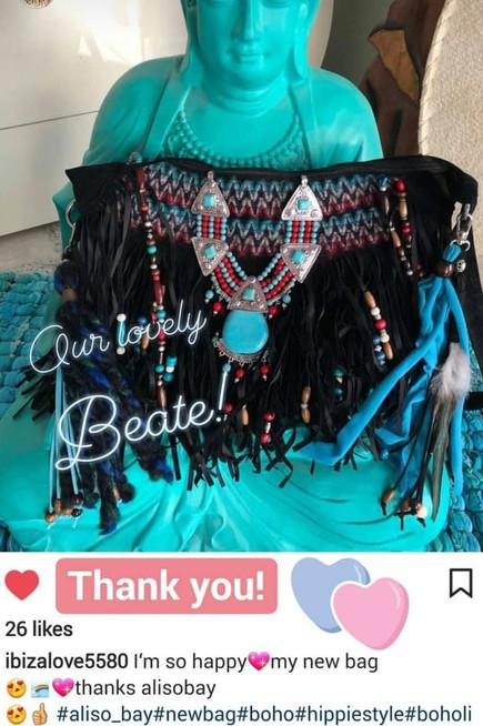 bohemian bag, black vegan bag, black gypsy purse, boho fringe bag, ibiza love, ibiza fashion style .jpg