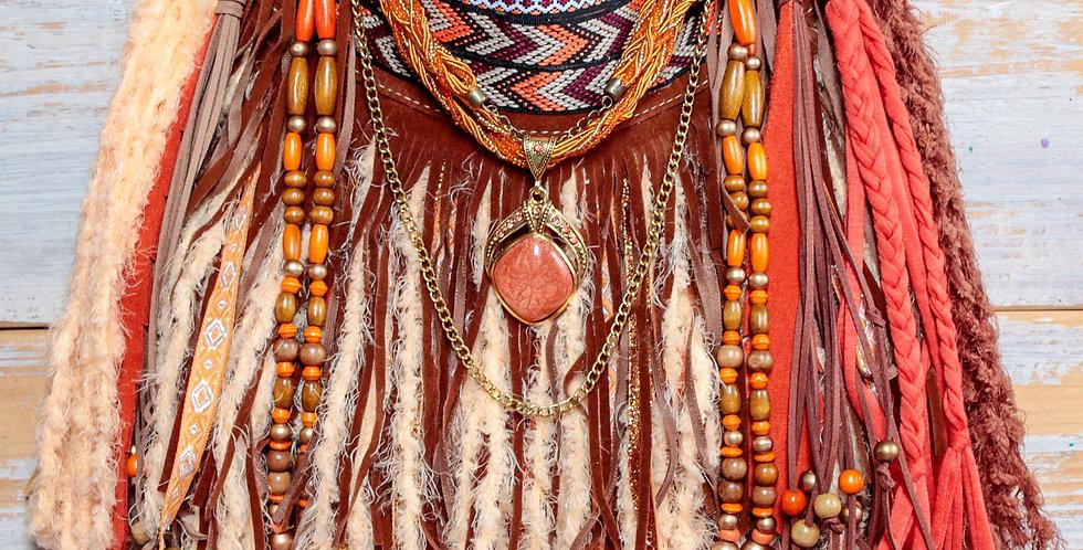 Tangerine Fringe Bag